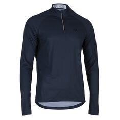 Run Zipp Shirt LS Men Steel Blue XXL