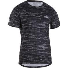 Run T-Shirt SS Men Black Camo S