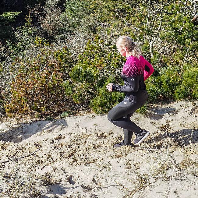 Trail langermet orienteringstrøye dame