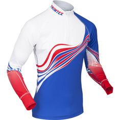 Ambition Raceshirt LS Dazzling Blue / True Red / White S