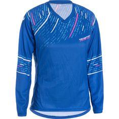 Enduro Shirt LS Jr Cobalt Blue / Neon Pink 130